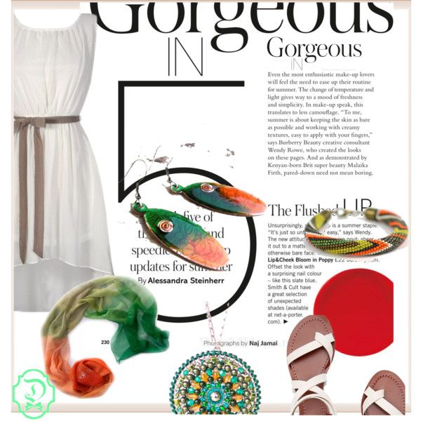 Gorgeous IN -5 accesories by alexandra-balau on Polyvore featuring Tory Burch, handmade, Colorfull, Etsyfinds, dichisshop and mandalapendant