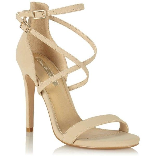 Miss Selfridge CHARIS Barely There Sandal ($55) ❤ liked on Polyvore featuring shoes,