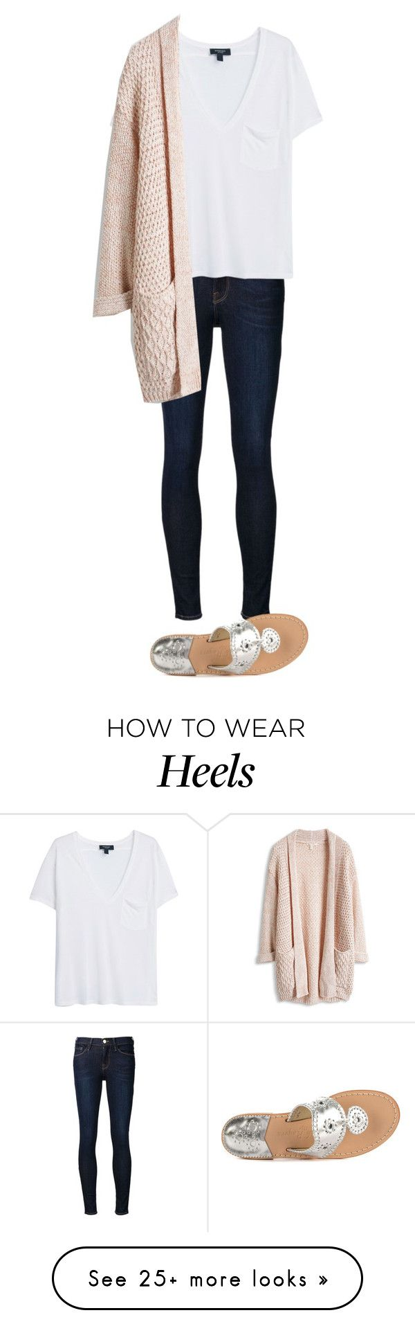 """ootd"" by smileyavenuegirl on Polyvore featuring Frame Denim, MANGO and Jack Rogers"