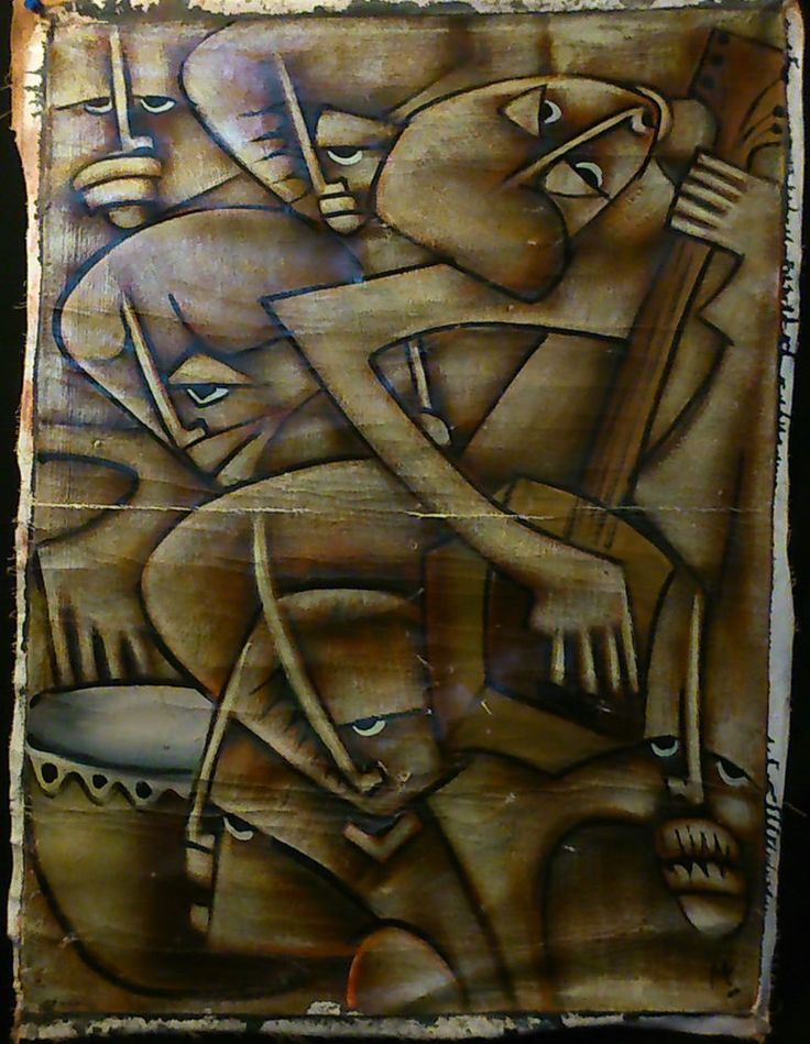 tableau africain ancien
