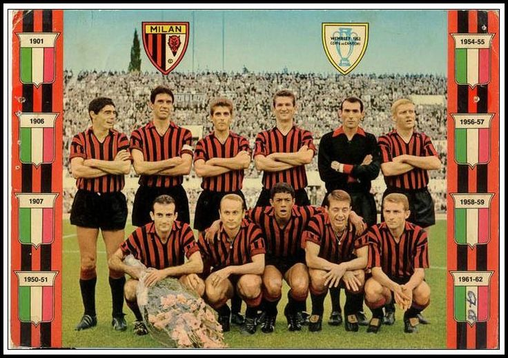 Here's the AC Milan side that won the European Cup in 1963.