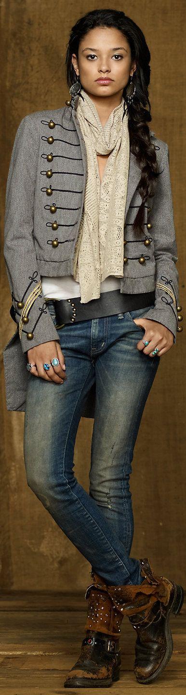 Ralph Lauren Denim and supply. More fashion at www.jeannelm.com