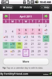 IPhone and Android apps. Precise ovulation calendar – Project – #Android #Apps …  – Pregnancy Calculator