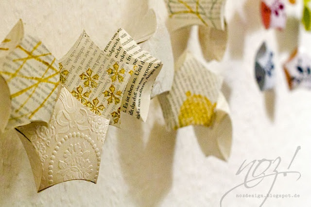 Paperstars made of old books  with tutorial