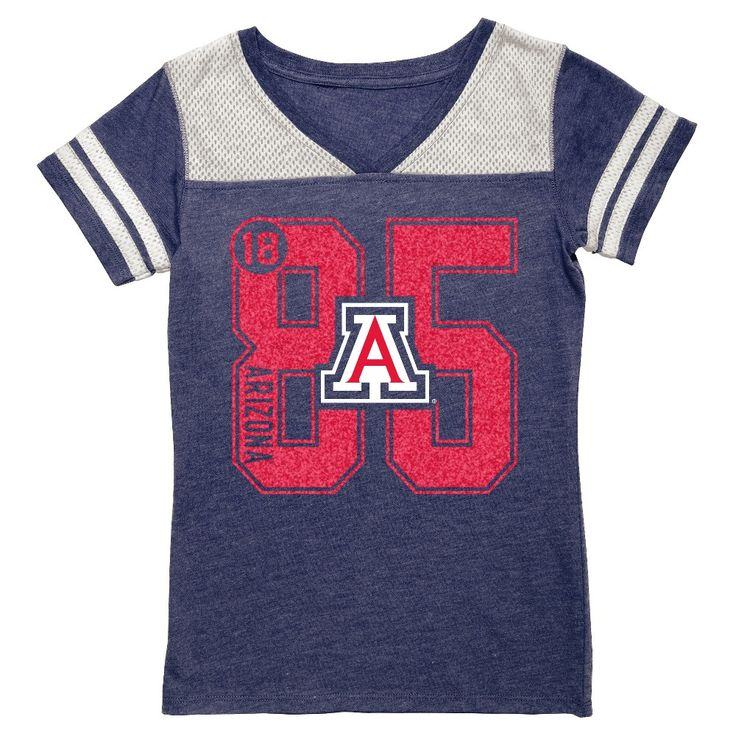 NCAA Arizona Wildcats Girls' V-Neck Tunic Shirt - XL, Girl's, Multicolored