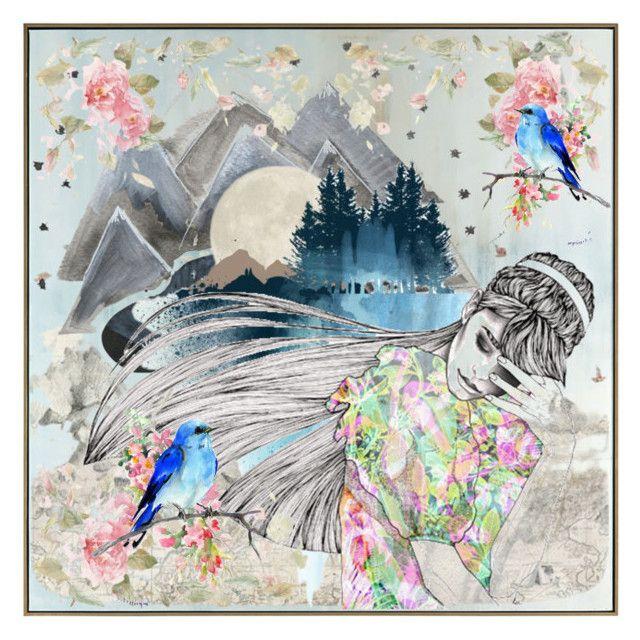 """Marshmallow Sakura"" by beanpod ❤ liked on Polyvore featuring art"