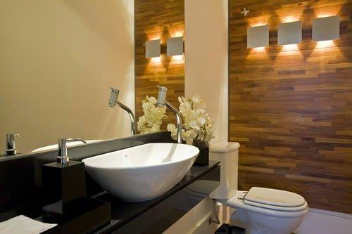 Construindo Minha Casa Clean: Banheiros e Lavabos com Bancadas Pretas! Inspire-se!