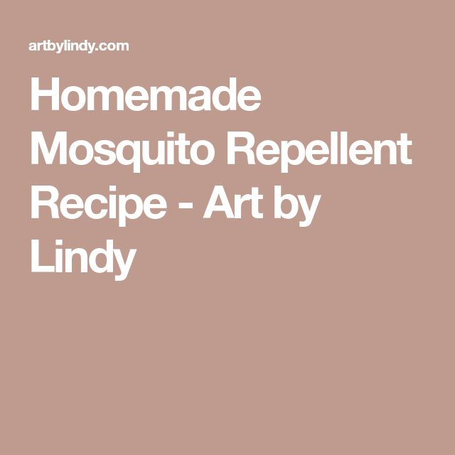 Homemade Mosquito Repellent Recipe - Art by Lindy