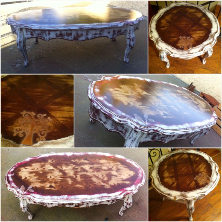SOLD - more coming soon! Vintage Coffee Table & Side Table Set,  shabby chic coffee table and end table, antique, french cottage, painted by ReincarnatedwithLove on Etsy https://www.etsy.com/listing/201800029/sold-more-coming-soon-vintage-coffee