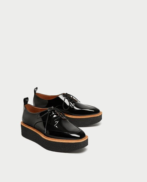 15d252b87917 Image 1 of PLATFORM DERBY SHOES from Zara