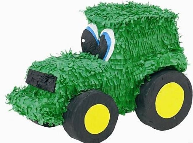 Green Tractor Pinata - John Deere Farm Themed Birthday Party Supplies & Games #YaOttaPinata #BirthdayChild