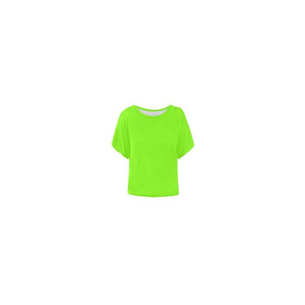simply neon green Women's Batwing-Sleeved Blouse T shirt (Model T43) ❤ liked on Polyvore featuring tops, blouses, batwing sleeve blouse, green blouse, batwing sleeve tops, neon green top and bat sleeve tops