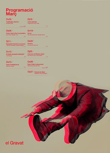 Poster+Dates ⁄ el Gravat  by MARIN DSGN, via Flickr