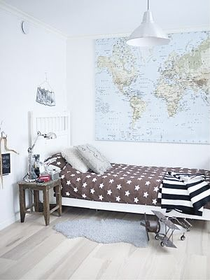 neutral stars and stripes, world map, model airplane