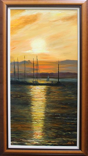 Lisa Elinor paintress Siofok in July 100×50 oil-canvas www.lisaelinor.com  Have nice day! :-)