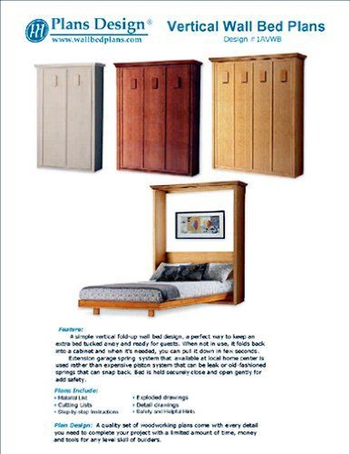 Low-Cost DIY Murphy Wall Bed Frame Woodworking Plans King, Queen, Full and Twin Included; 1AVWB Plans Design http://www.amazon.com/dp/B00I0H2NMS/ref=cm_sw_r_pi_dp_2K1Nub091DTVM