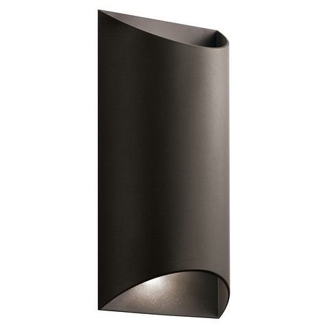 Kichler Lighting Wesley Collection 2-light Textured Architectural Bronze Outdoor Wall Sconce