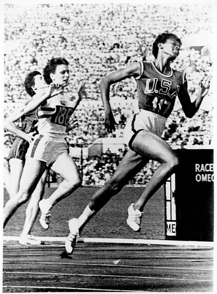 WIlma Rudolph Rome Olympics 1960 --- I remember this so well --- She was my hero!