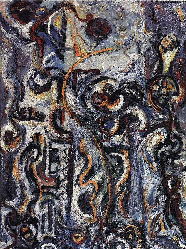 Jackson Pollock   Jackson Pollock - The Mad Moon Woman, 1941