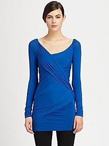 Donna Karan - Asymmetrical Draped Tunic