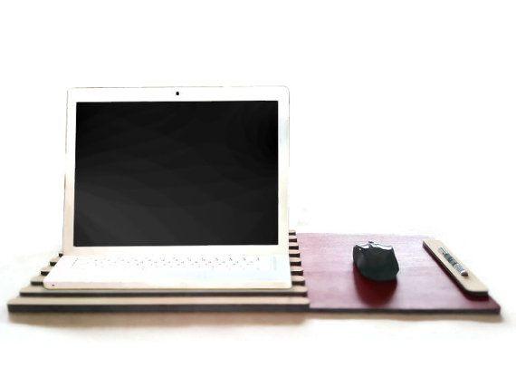 Laser cut wood lap deskdrawing desk organizerlap boardlap