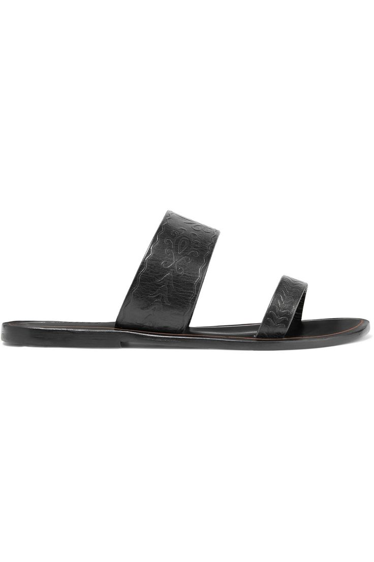 Shop on-sale Schutz Concetta embroidered leather slides. Browse other discount designer Sandals & more on The Most Fashionable Fashion Outlet, THE OUTNET.COM