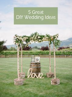 diy wedding arch ideas for rustic themed weddings 2015 #diyweddingideas