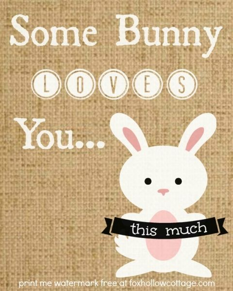 8 x 10 burlap some bunny loves you this much (1)
