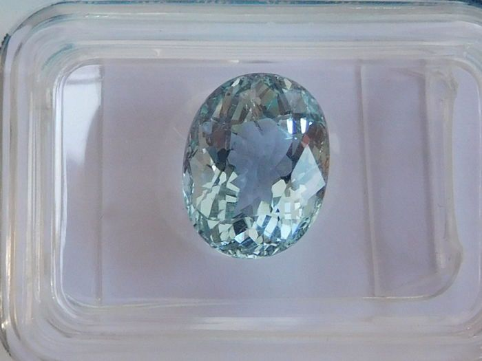 Currently at the #Catawiki auctions: Natural #Aquamarine - Blue - 2.55 ct