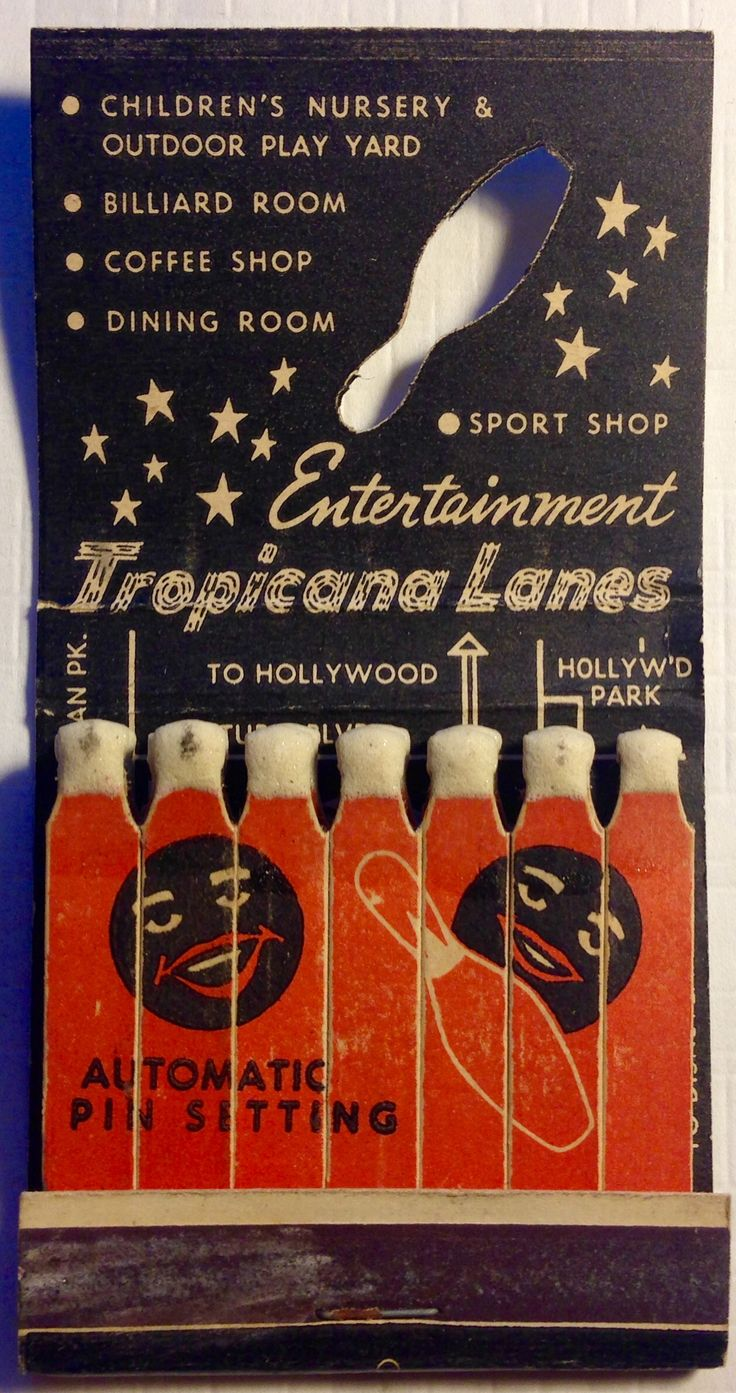 Tropicana Lanes #feature #matchbook To design & order your business' own advertising #matches Goto GetMatches.com