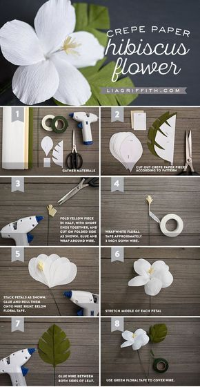 nice awesome Crepe Paper Hibiscus - Lia Griffith by www.danaz-homedec...... by http://www.dana-home-decor-ideas.xyz/diy-crafts-home/awesome-crepe-paper-hibiscus-lia-griffith-by-www-danaz-homedec/