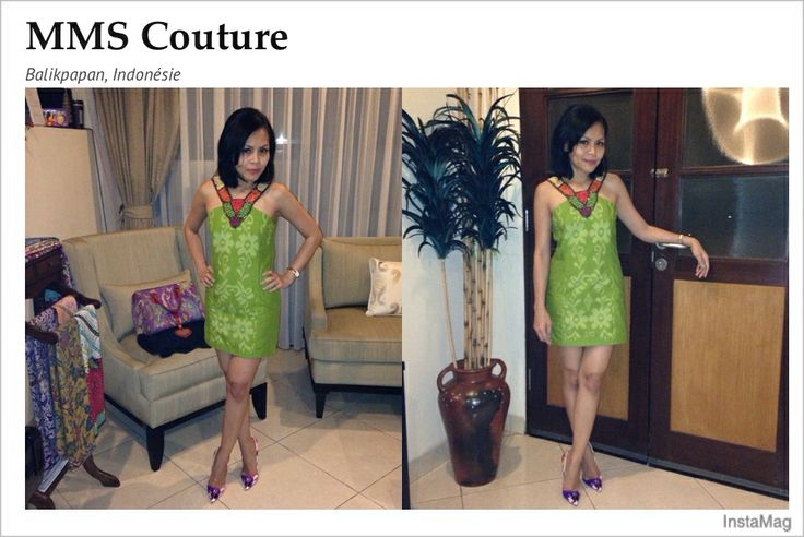 Tenun samarinda with Ethnic collier by MMS Couture and shoes by Loubi