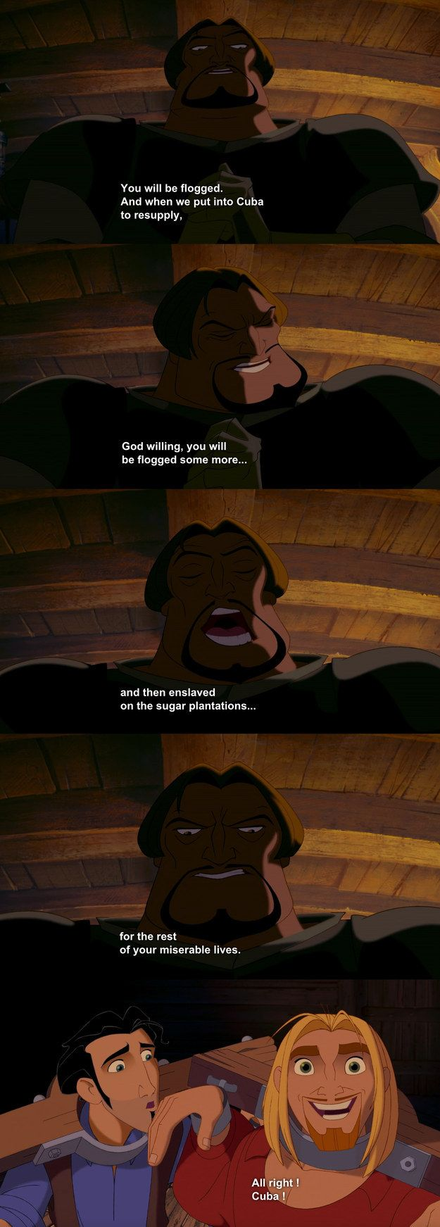 "Especially when Miguel's endless optimism comes into play. | We Need To Talk About ""Road To El Dorado"""