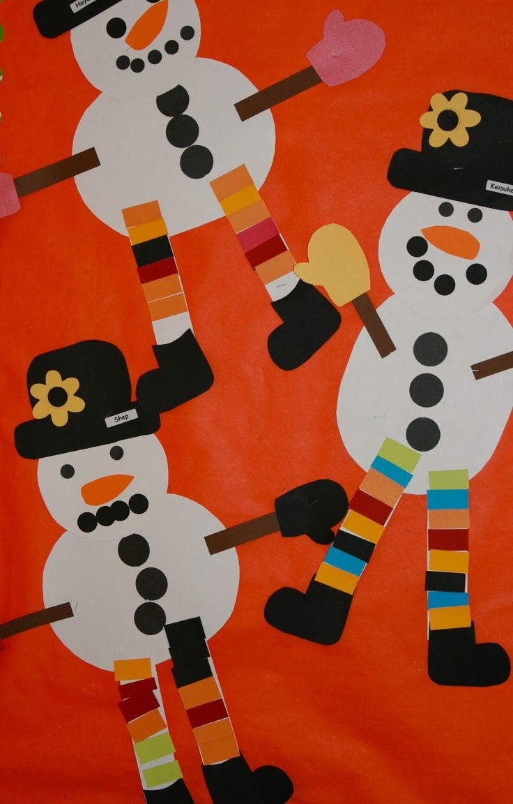Cute snowman to use with the book Snowmen at Night. Have first graders write what their own snowman did.