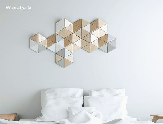 CELL 9 pcs. wall sculpture Decor Pattern Geometric