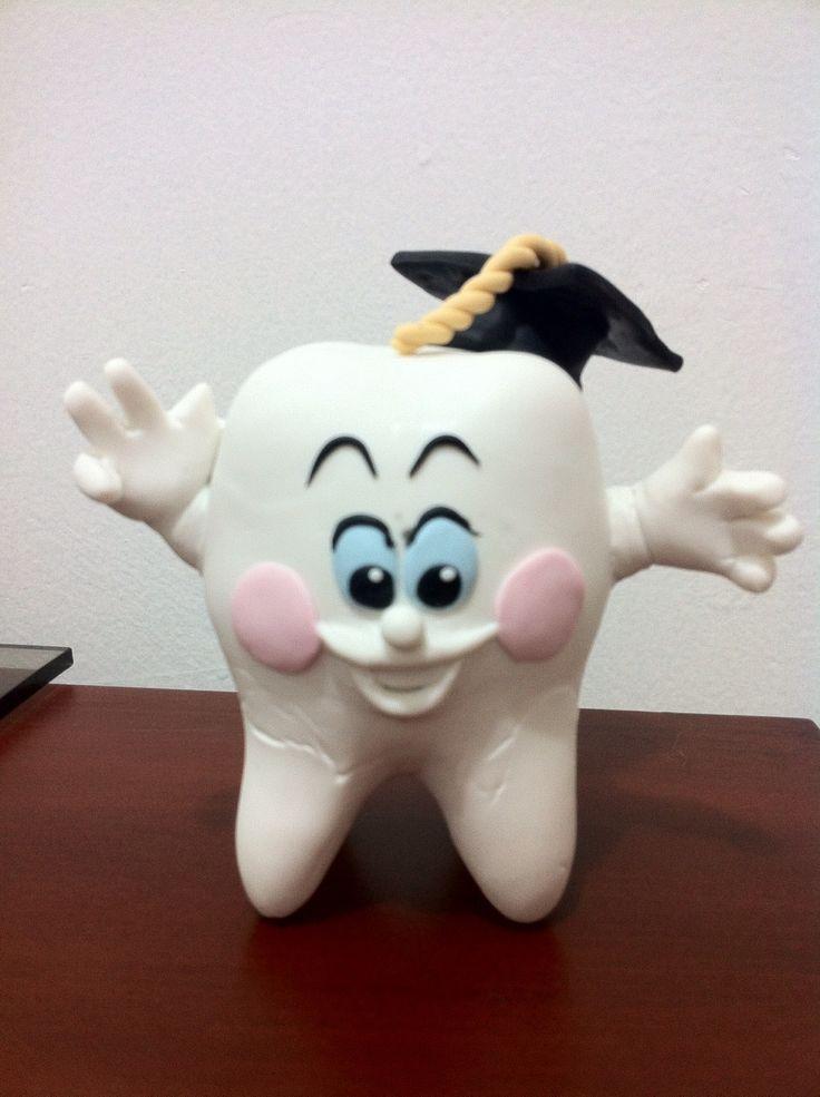 Diente porcelana fria polymer clay