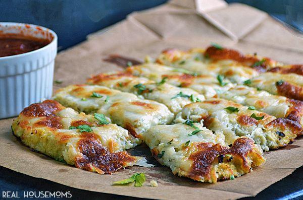 Low Carb Cauliflower Breadsticks – Healthy & Fit