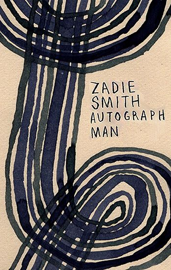"Leanne Shapton's book cover sketch for Zadie Smith's ""Autograph Man."" Designed by John Gall."