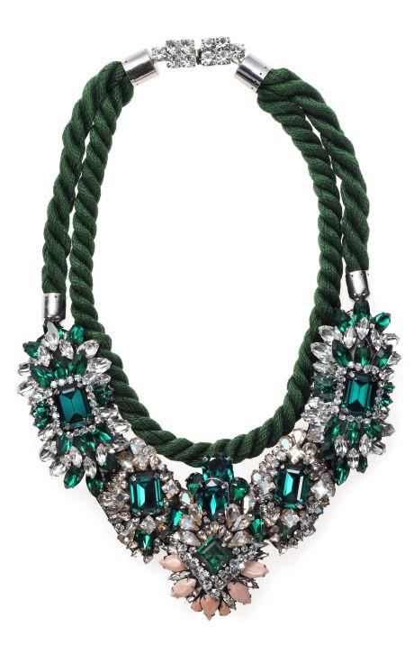 Ivana bib necklace by Shourouk from Moda Operandi