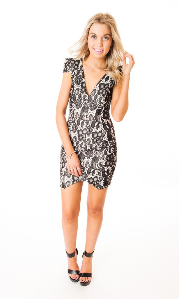 black lace dress Click to buy now