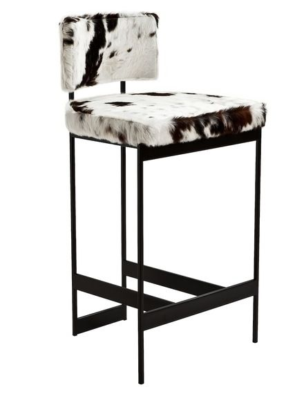 NY USA Dennis Miller Associates Contralto Stool By Powell Bonnell Furniture Stools Bronze Leather  Bar: X X Seat Height