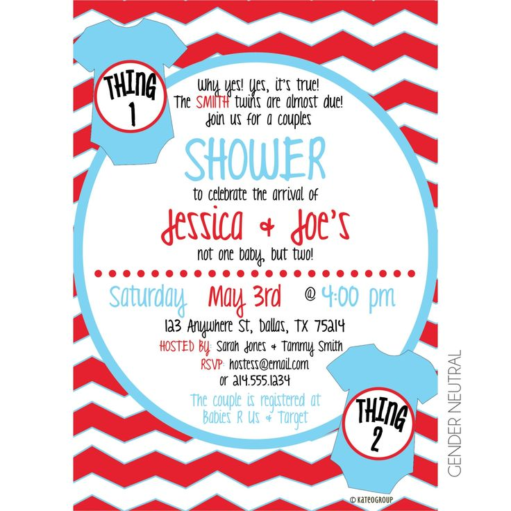 13 best Twin Baby Shower Invitations images on Pinterest Twin - email baby shower invitation templates