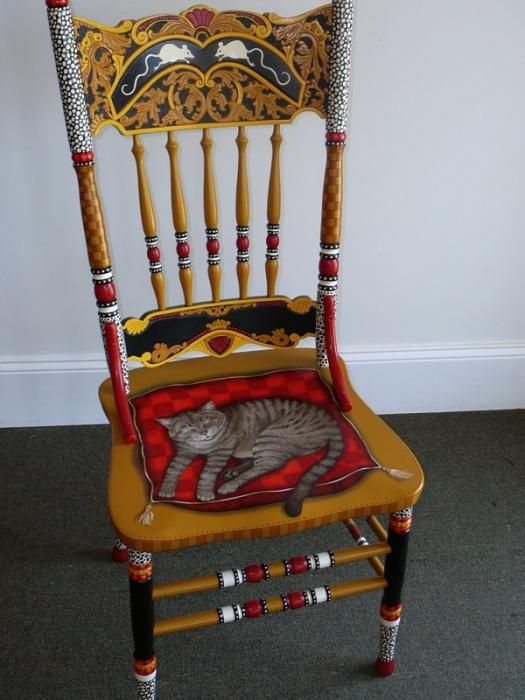 Hand Painted Funky Chair