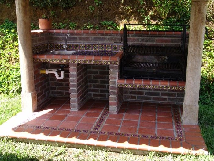 Best 25 asadores de ladrillos ideas on pinterest for Asadores para carne jardin