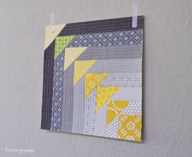 107 best Quilt As You Go - QAYG images on Pinterest | Tutorials ... : quilt as you go log cabin - Adamdwight.com