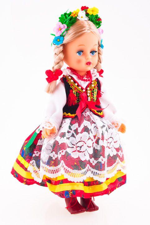 Lalka ludowa - krakowski strój regionalny - 30 cm