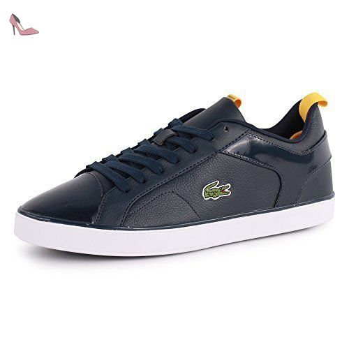 Lacoste Ventron Nal Mens Leather & Synthetic Trainers Dark Blue - 46 EU -  Chaussures lacoste
