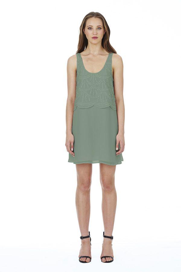 Sabine Dress in Khaki