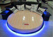 Moderna mobília do quarto camas Redondas rodada camas king size com luz LEd…