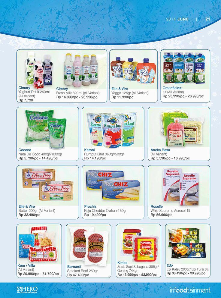 Dapatkan Nata de Coco, Minuman Yoghurt dan Fresh Milk untuk menyambut bulan Ramadhan dengan harga yang ekonomis hanya di Hero Supermarket.  Ayo Fresh People, jangan sampai kehabisan belanja sekarang juga